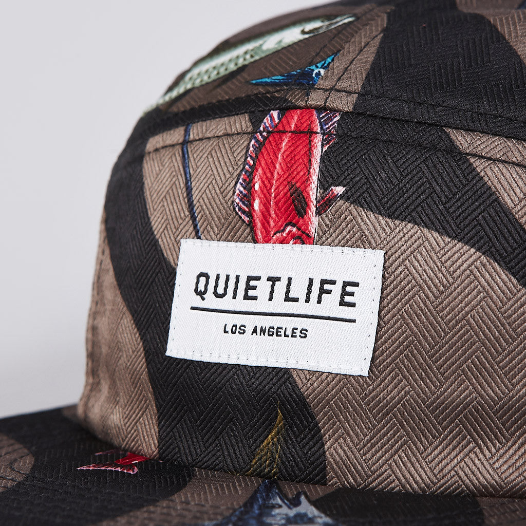 The Quiet Life Reel 5 Panel Cap Brown