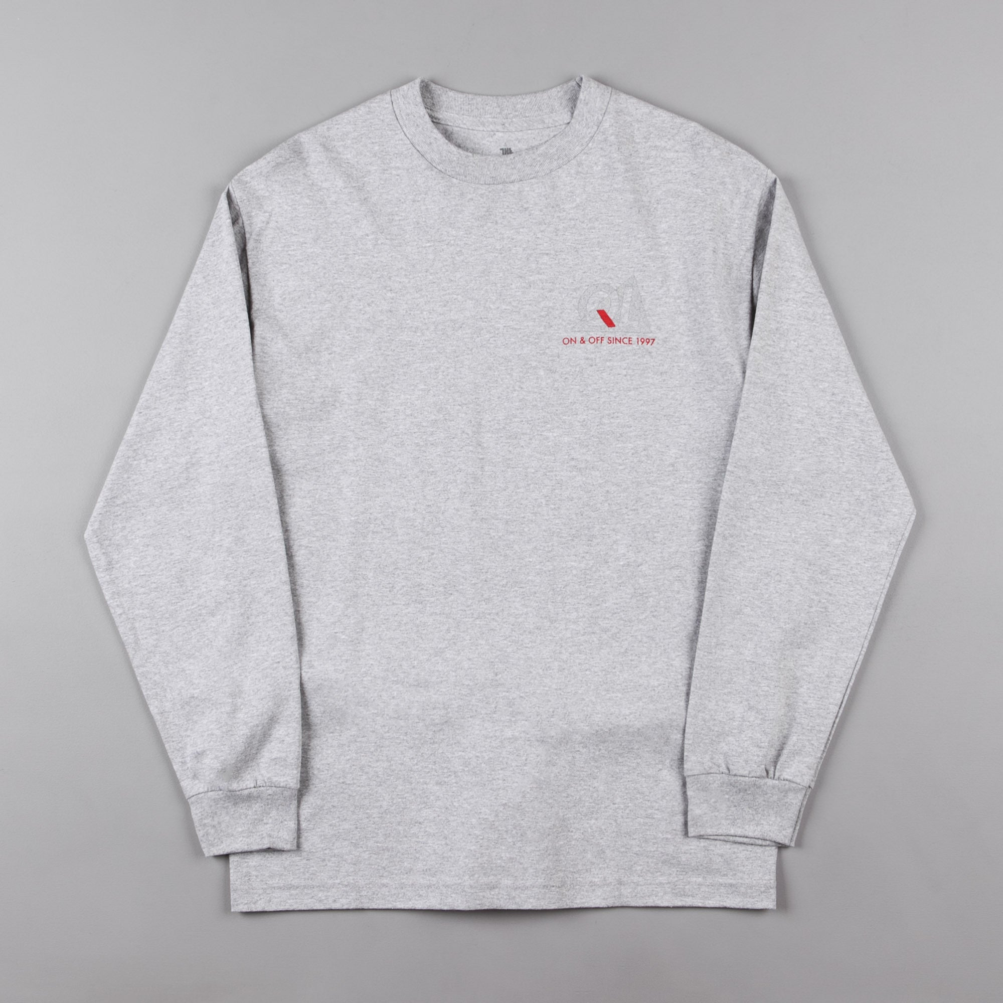 The Quiet Life Reflective Long Sleeve T-Shirt - Heather Grey