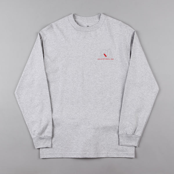The Quiet Life Reflective Premium Long Sleeve T-Shirt - Heather Grey