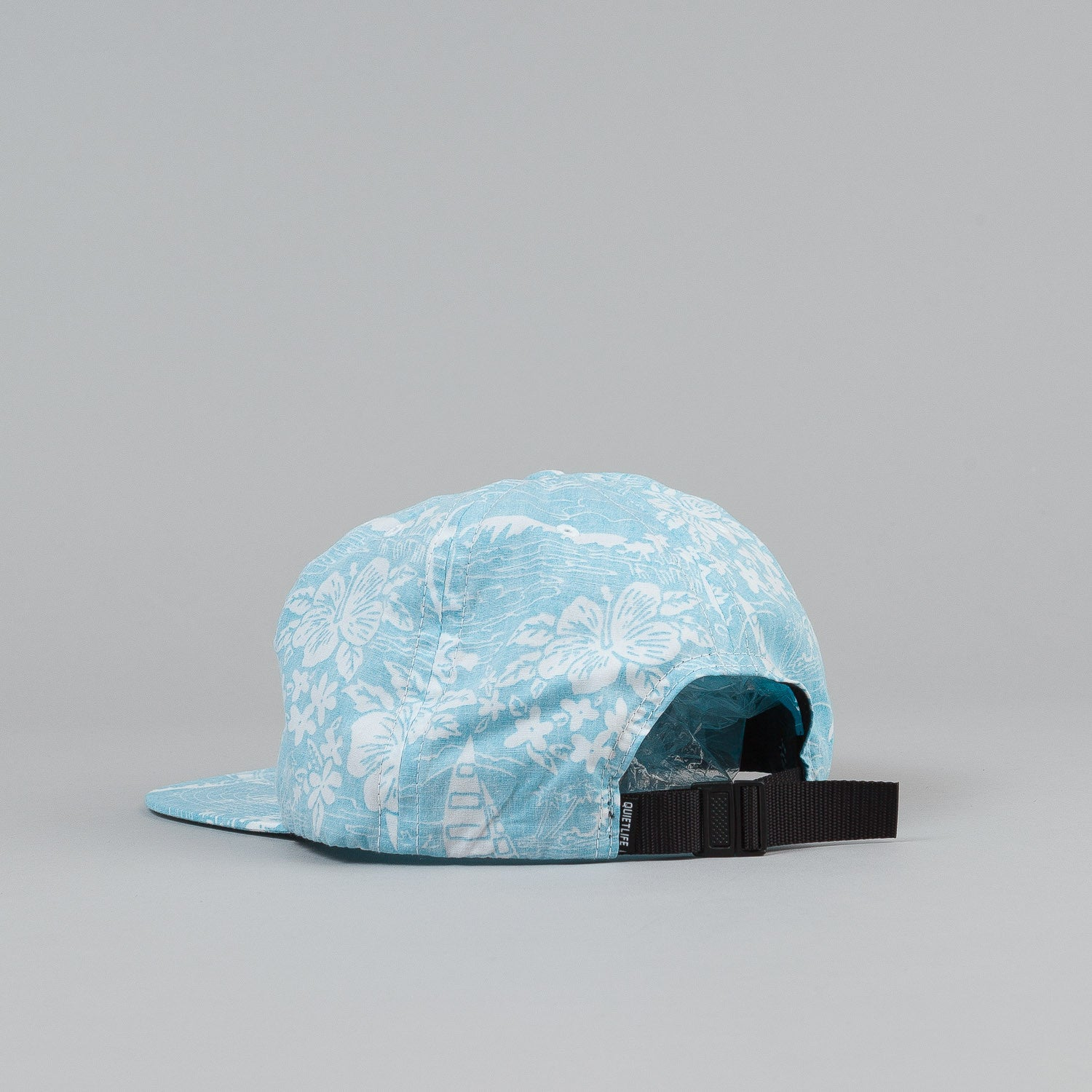 The Quiet Life Reversed Hawaiian Relaxed Snapback Cap - Blue