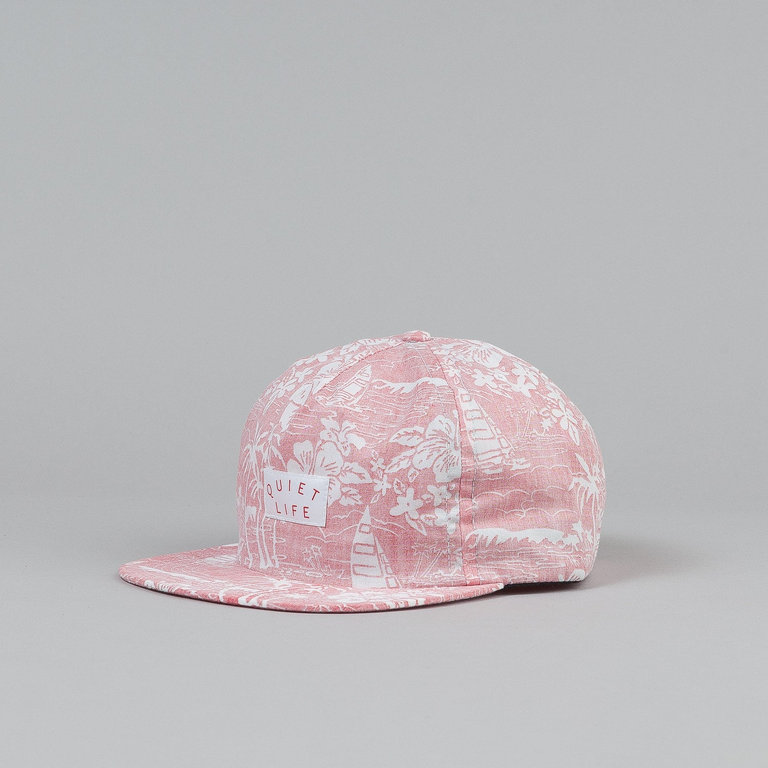 The Quiet Life Reversed Hawaiian Relaxed Snapback Cap - Red
