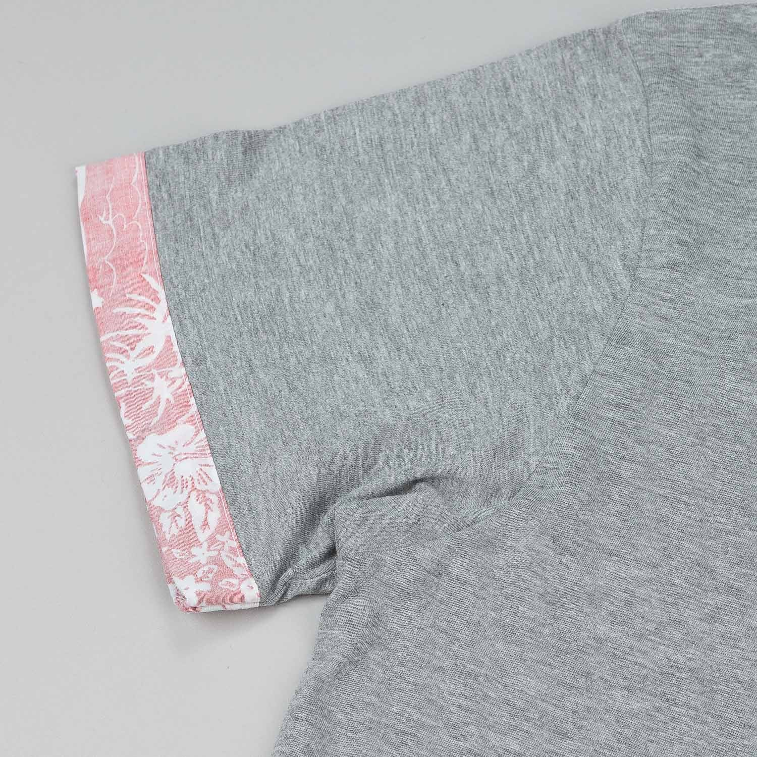 The Quiet Life Reversed Liberty Hawaiian Cuff T-Shirt - Heather Grey
