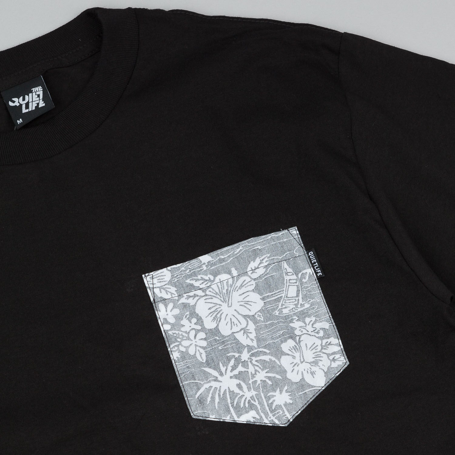 The Quiet Life Reversed Liberty Hawaiian Pocket T-Shirt - Black