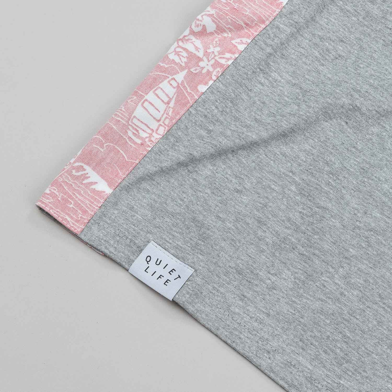 The Quiet Life Reversed Liberty Hawaiian Side Panel Tank - Heather Grey