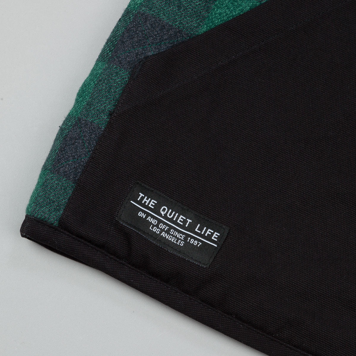 The Quiet Life Reversible Flannel Cord Vest - Black / Green