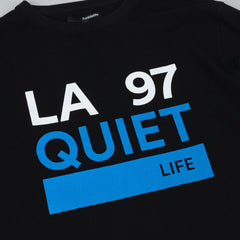 The Quiet Life Ribbed Cuff Long Sleeve T-Shirt - Black