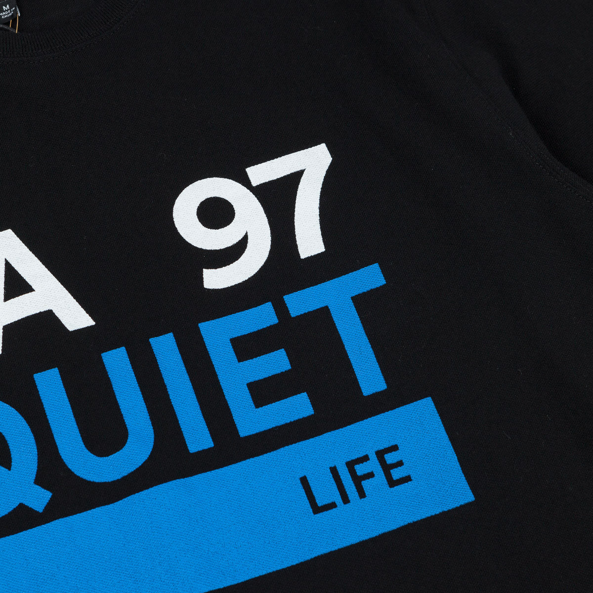 The Quiet Life Ribbed Cuff T-Shirt - Black