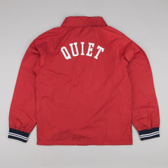 The Quiet Life Ribbed Garage Jacket - Burgundy