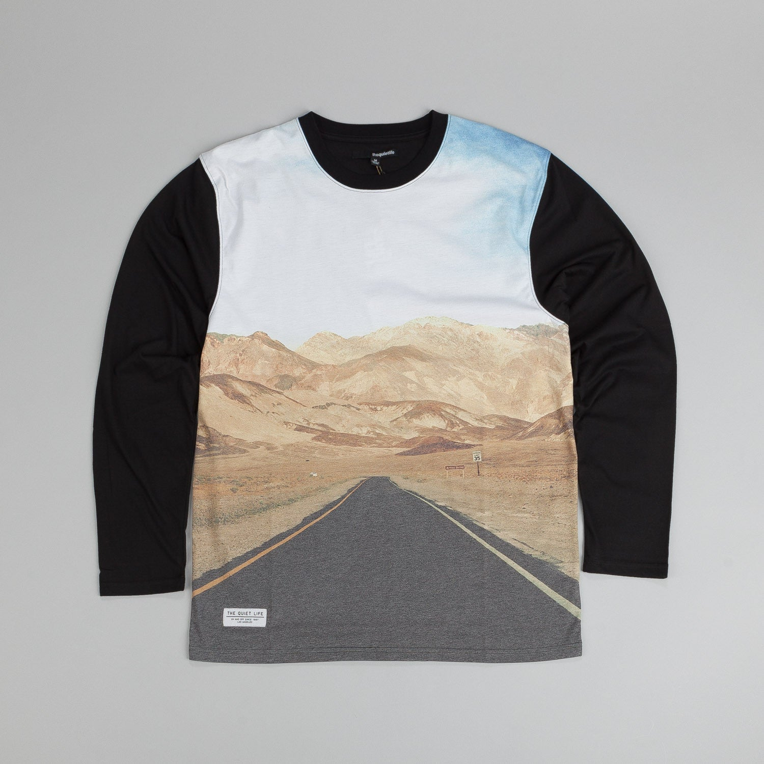 The Quiet Life Road Photo L/S T Shirt Black