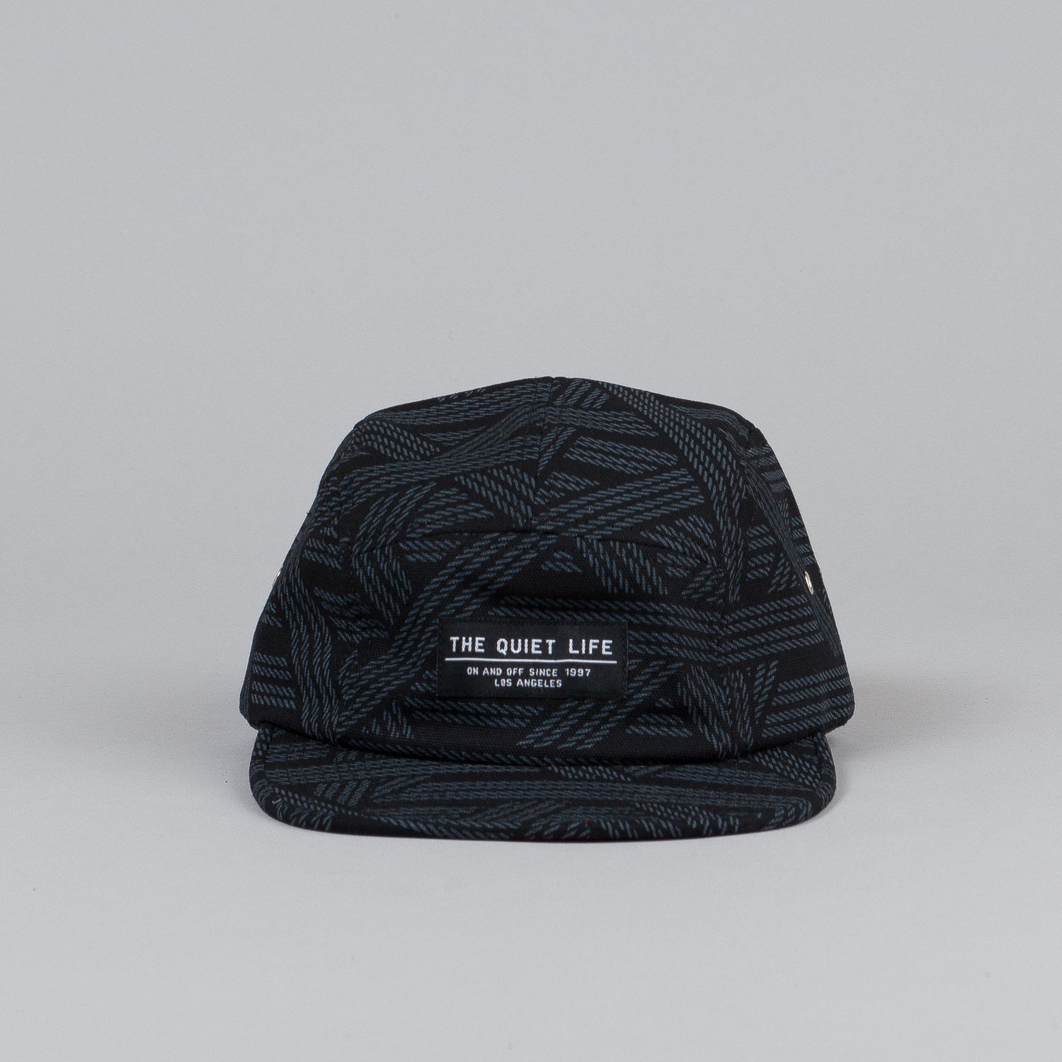 The Quiet Life Rope 5 Panel Cap Black