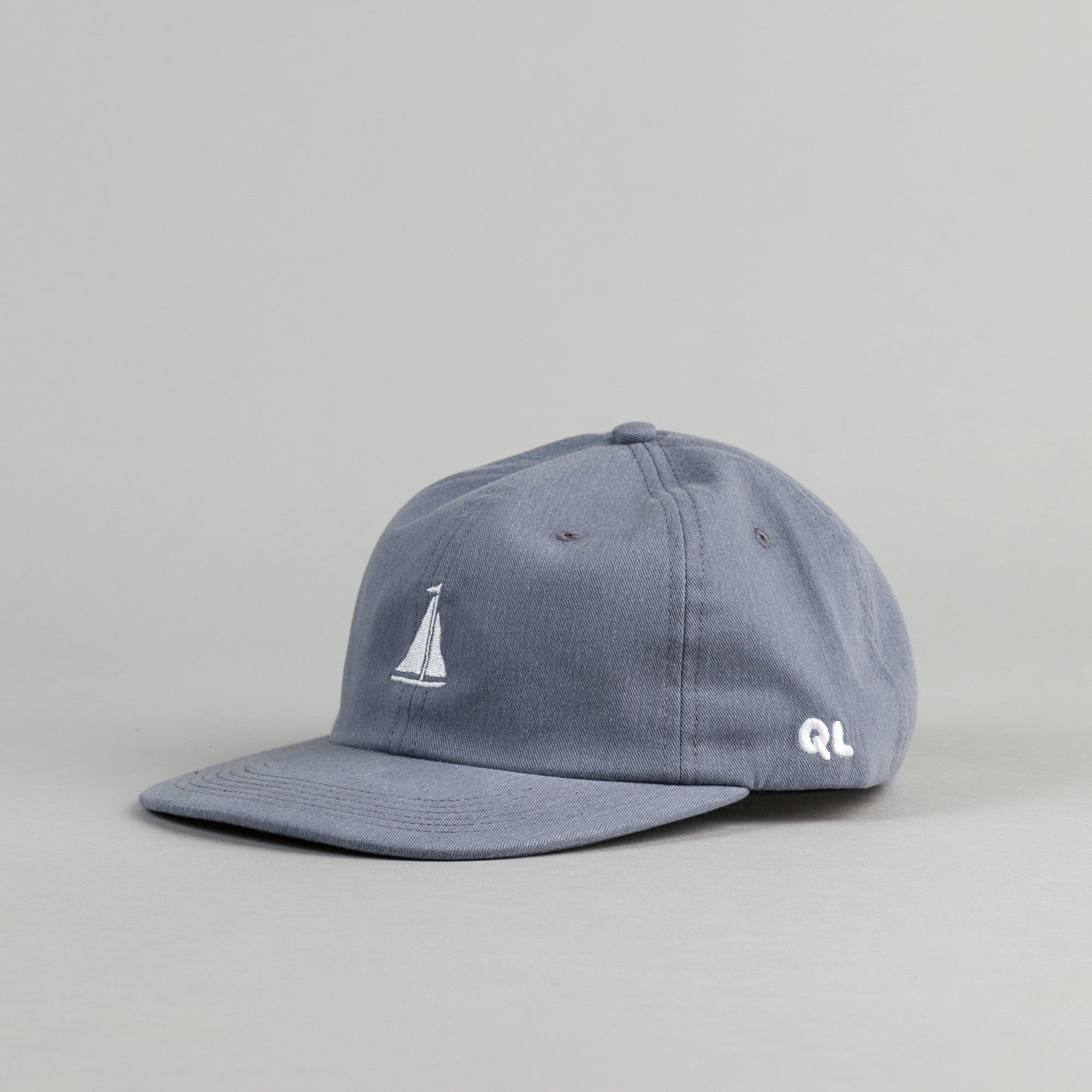 The Quiet Life Sail Polo Cap - Steel Blue