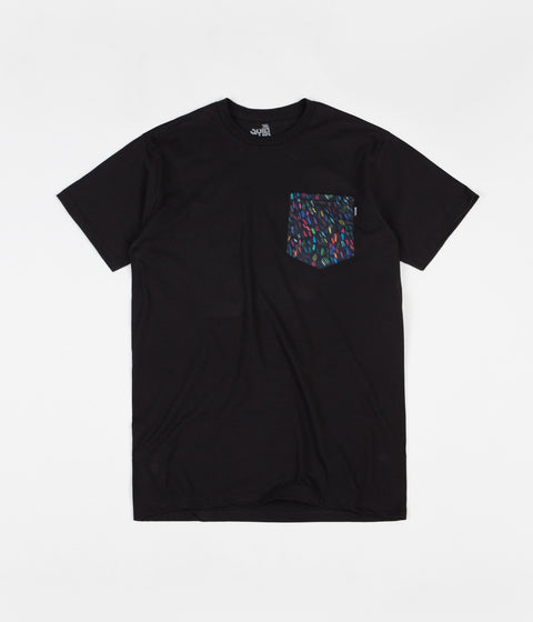 The Quiet Life Scribble Pocket T-Shirt - Black