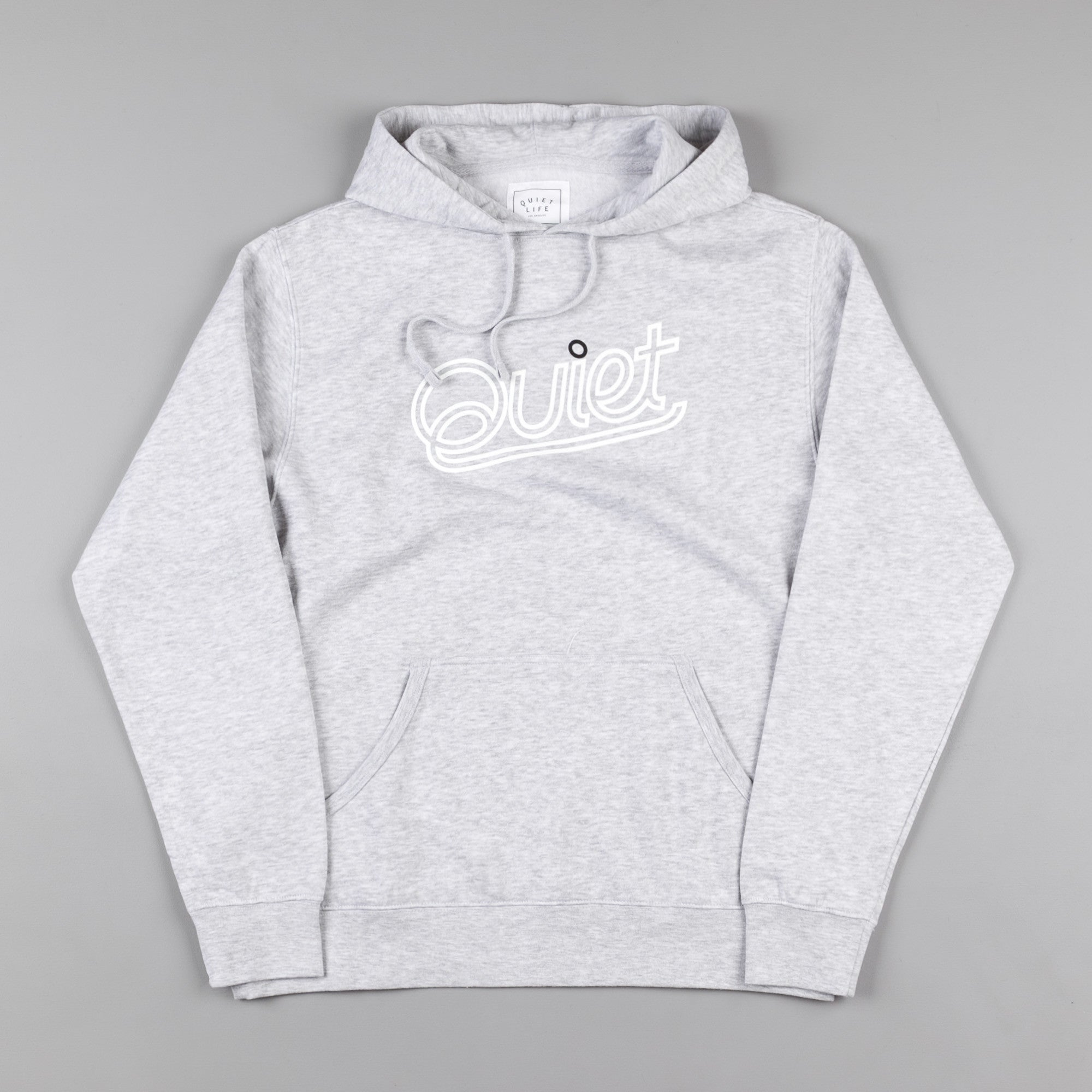 The Quiet Life Script Outline Hooded Sweatshirt - Heather Grey