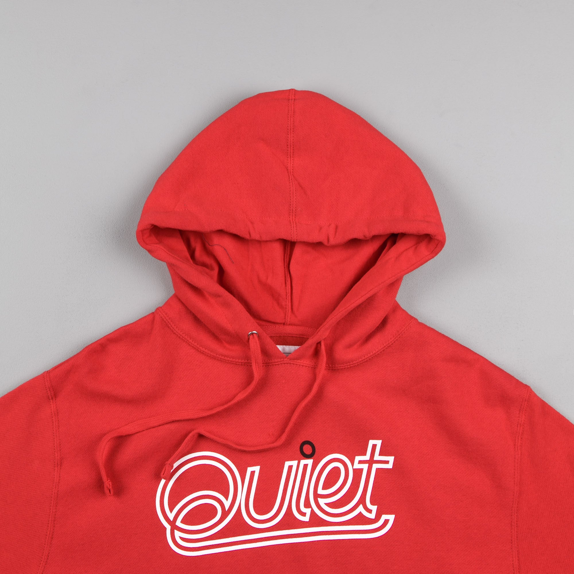 The Quiet Life Script Outline Hooded Sweatshirt - Red
