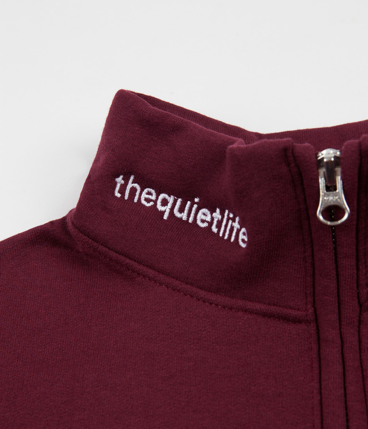 The Quiet Life Shhh 1/4 Zip Sweatshirt - Burgundy