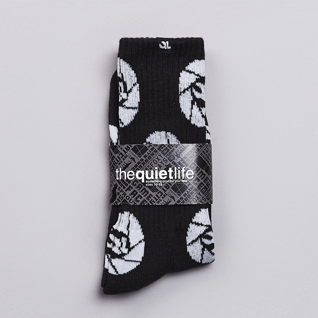 The Quiet Life Shutter Socks Black