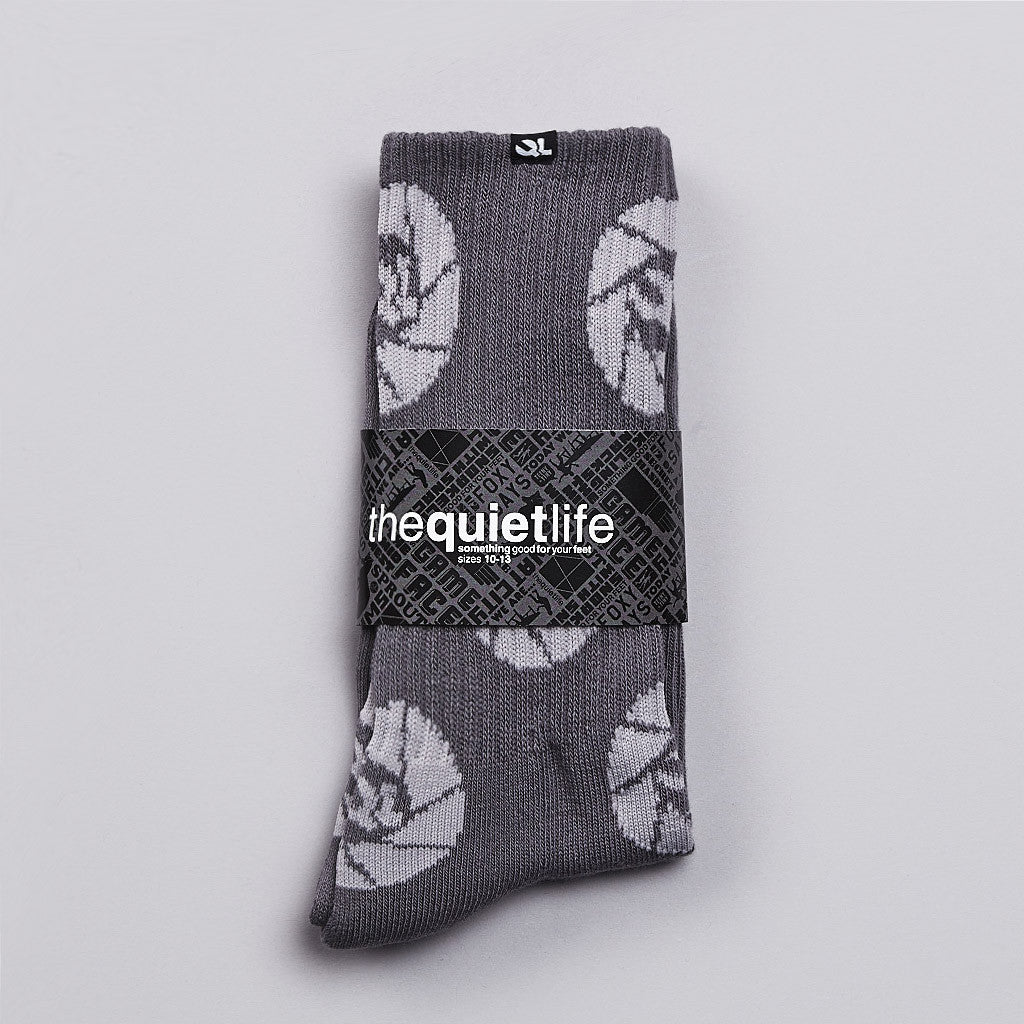 The Quiet Life Shutter Socks Charcoal