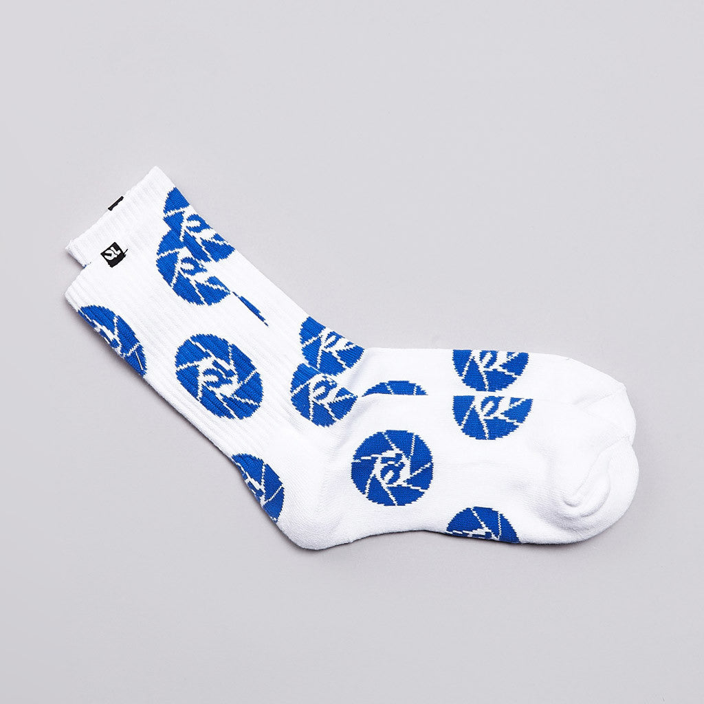 The Quiet Life Shutter Socks White