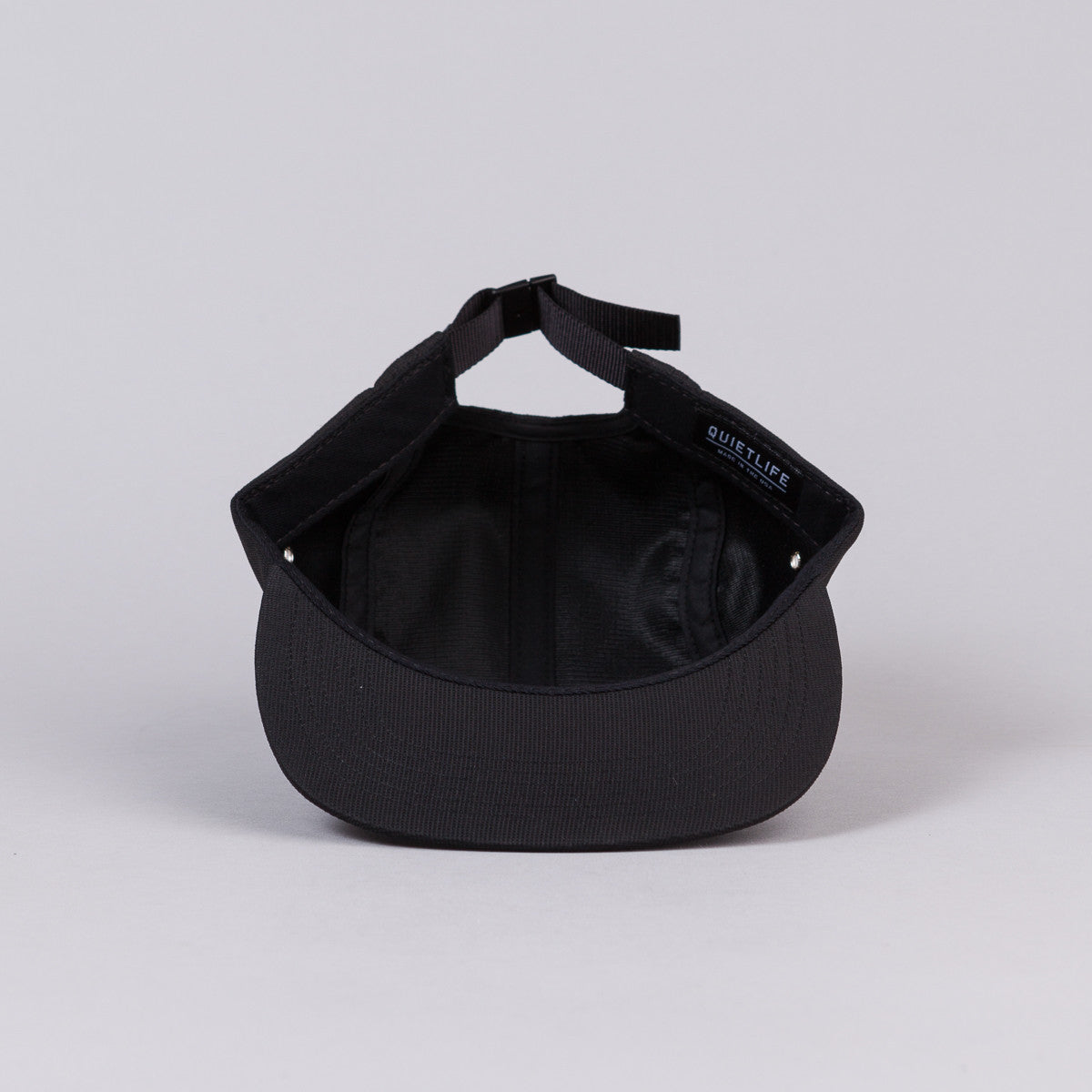 The Quiet Life Slant 5 Panel Cap - Black