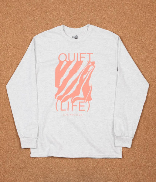 The Quiet Life Smear Long Sleeve T-Shirt - Ash