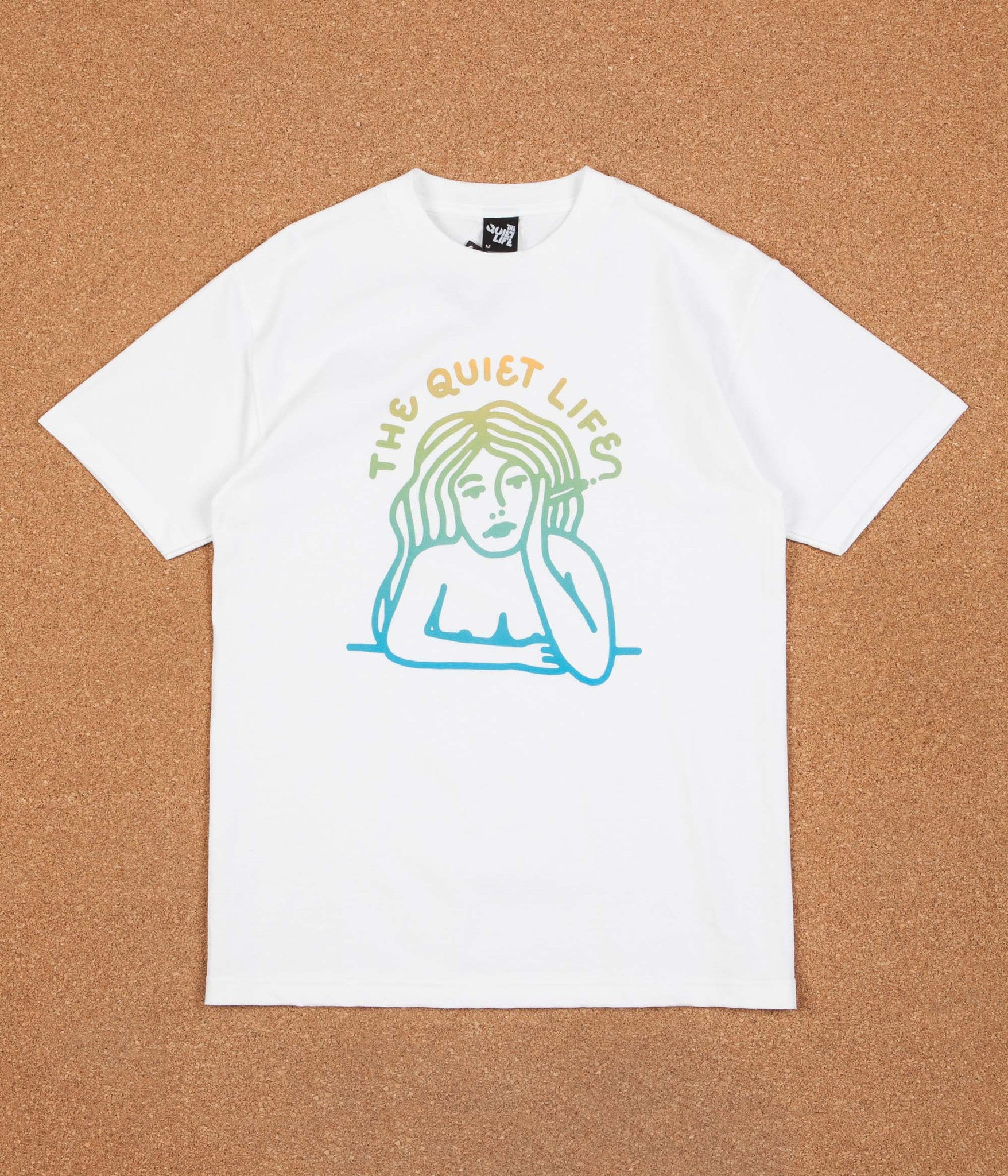 The Quiet Life Smoking Girl Gradient T-Shirt - White