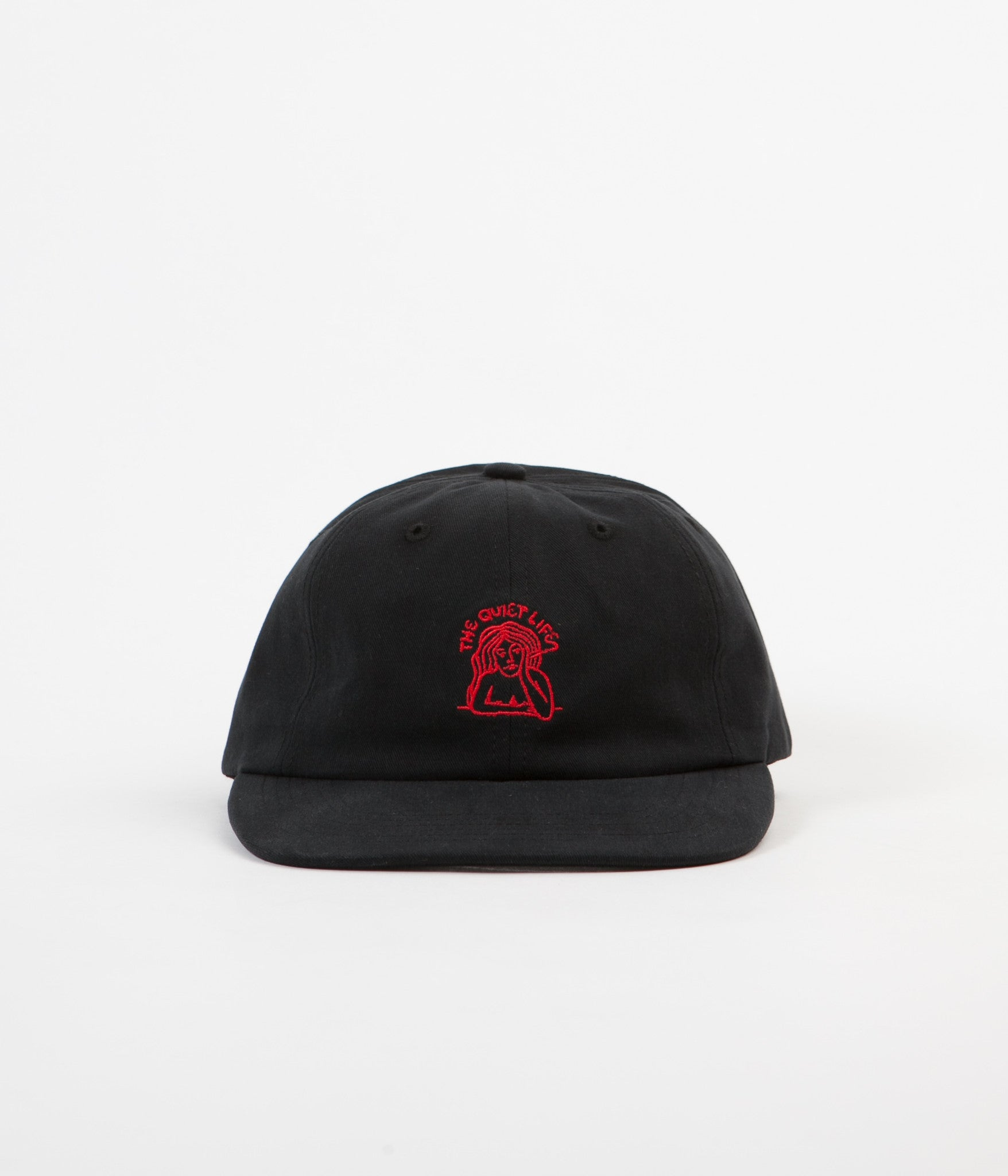 The Quiet Life Smoking Girl Polo Cap - Black