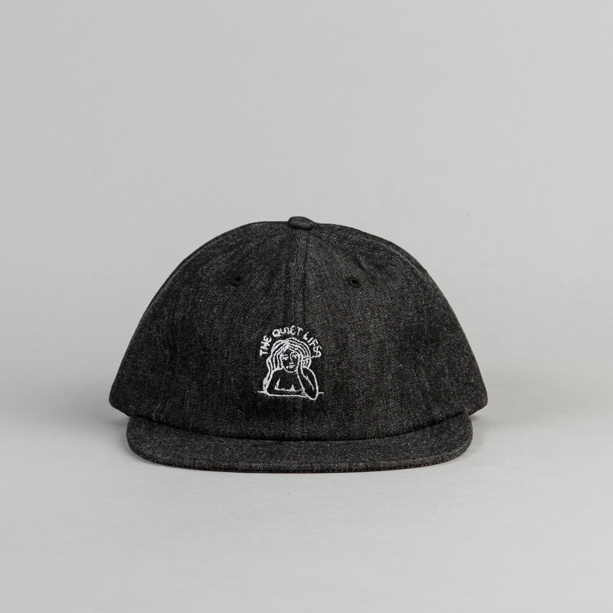 The Quiet Life Smoking Girl Polo Cap - Black Denim