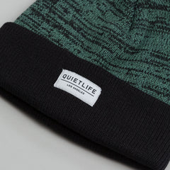 The Quiet Life Speckled Beanie Black / Green
