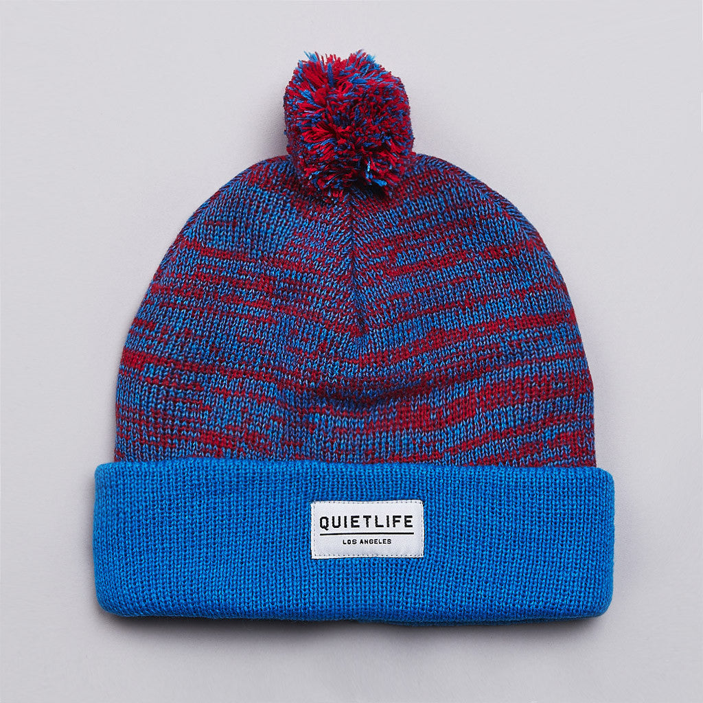 The Quiet Life Speckled Beanie Blue / Red