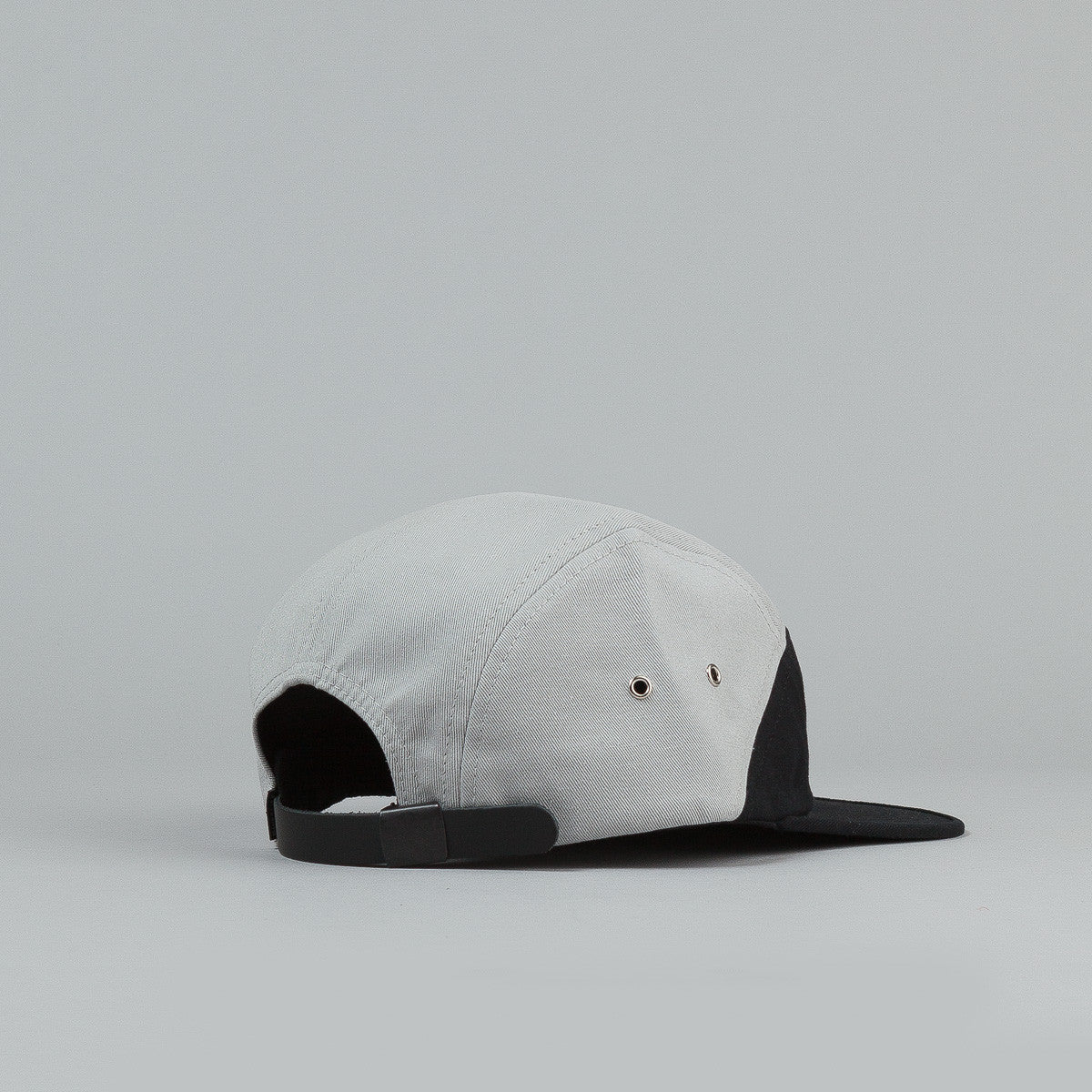 The Quiet Life Split 5 Panel Cap - Black / Grey