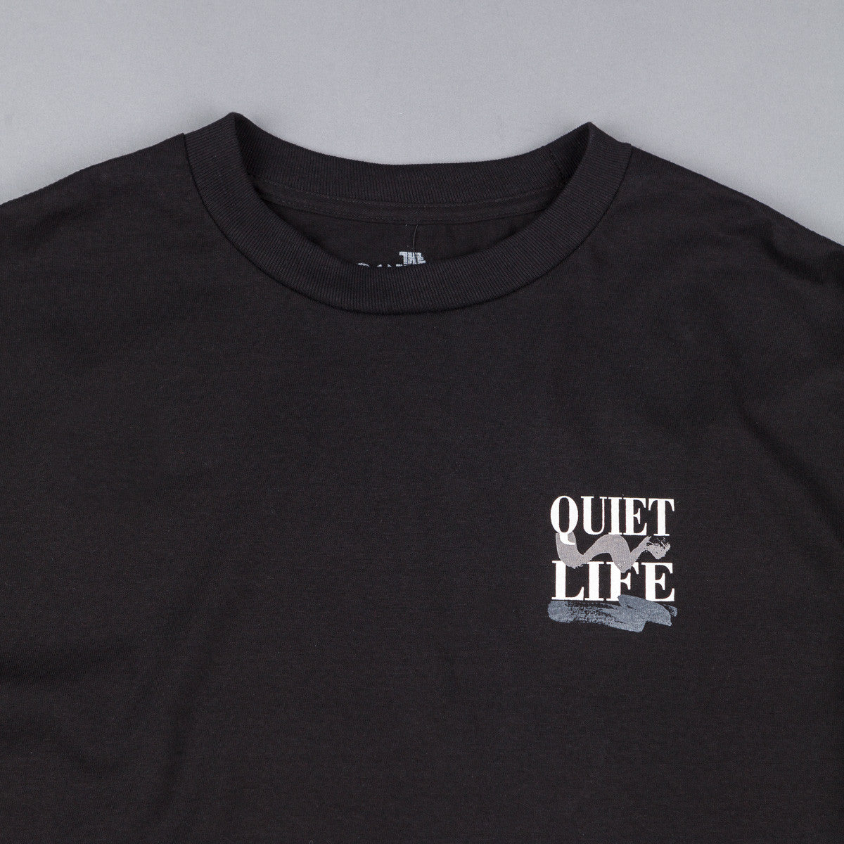 The Quiet Life Stack Long Sleeve T-Shirt - Black