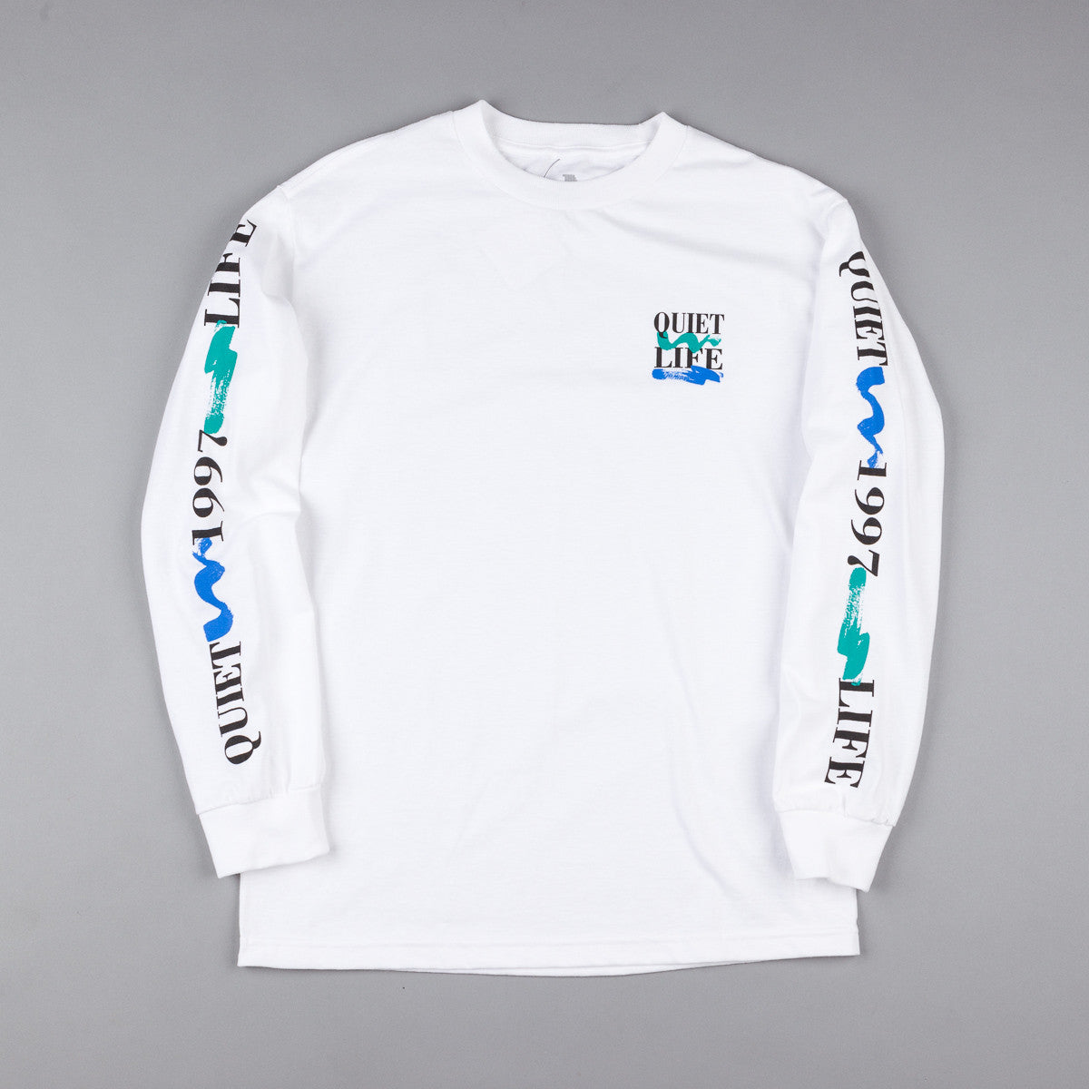The Quiet Life Stack Long Sleeve T-Shirt - White
