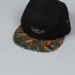 The Quiet Life Stroke 5 Panel Cap Black