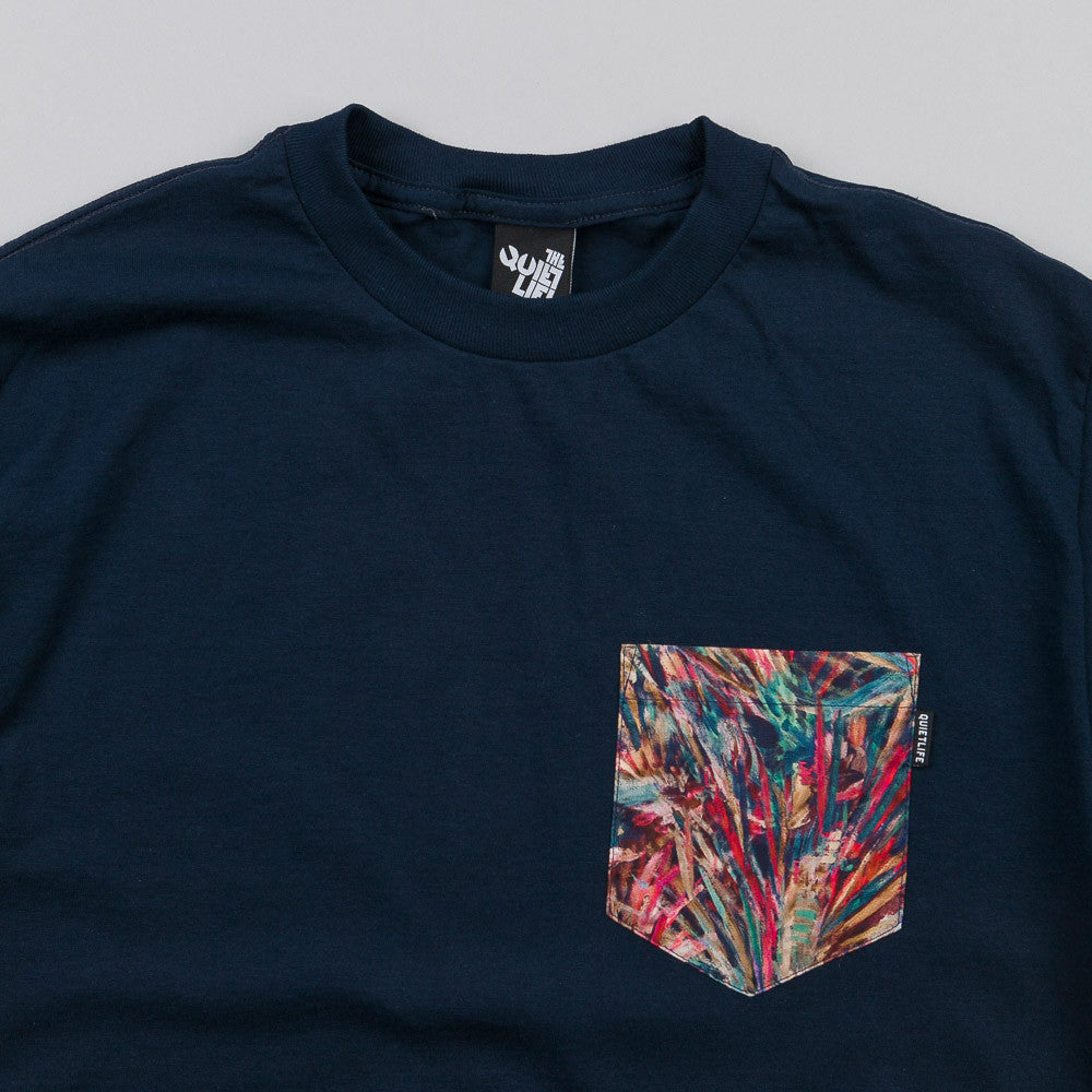 The Quiet Life Stroke Pocket T Shirt Navy