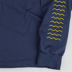 The Quiet Life Tasty Waves Long Sleeve T Shirt Navy