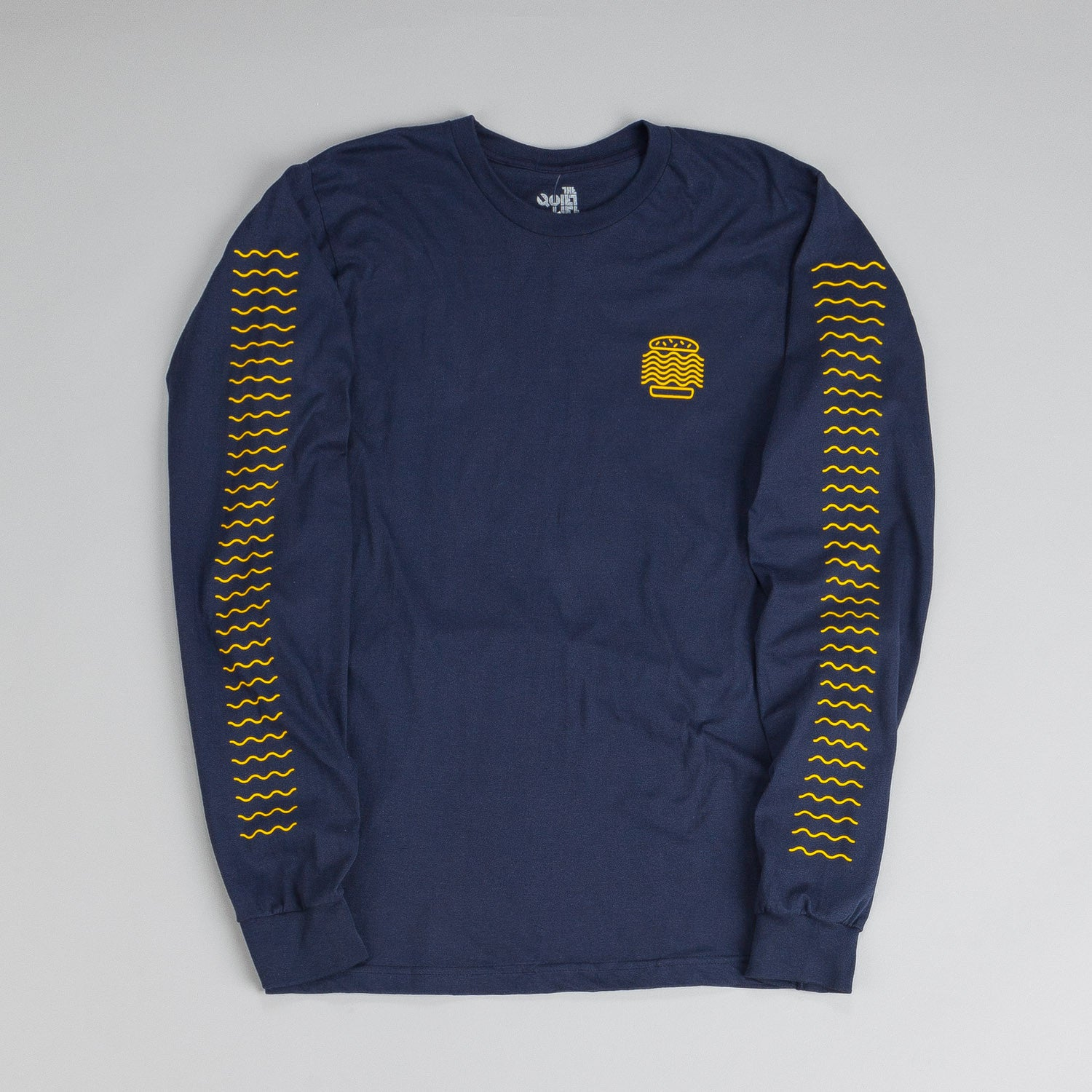 The Quiet Life Tasty Waves LS T Shirt Navy