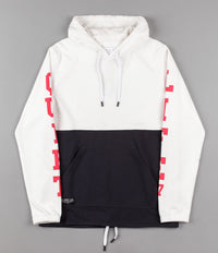 The Quiet Life Terry Drawcord Hooded Sweatshirt - White / Navy