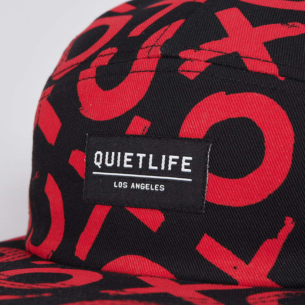 The Quiet Life Tic Tac 5 Panel Cap Black
