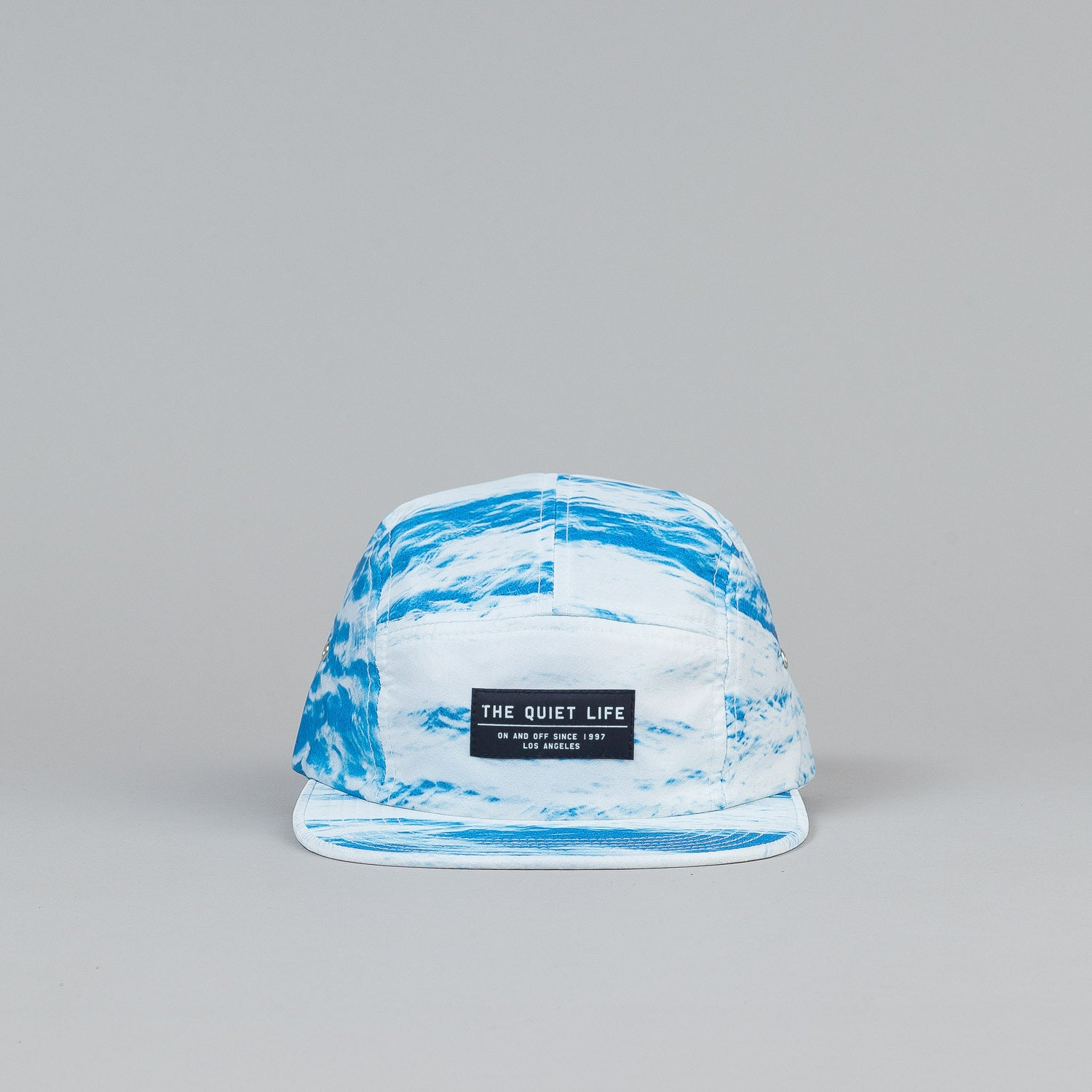 The Quiet Life Tide 5 Panel Cap - White / Blue