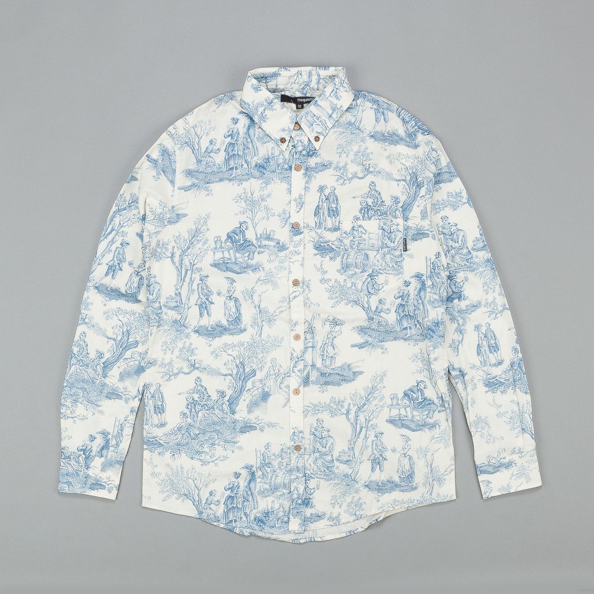 The Quiet Life Toile Shirt - Blue / White