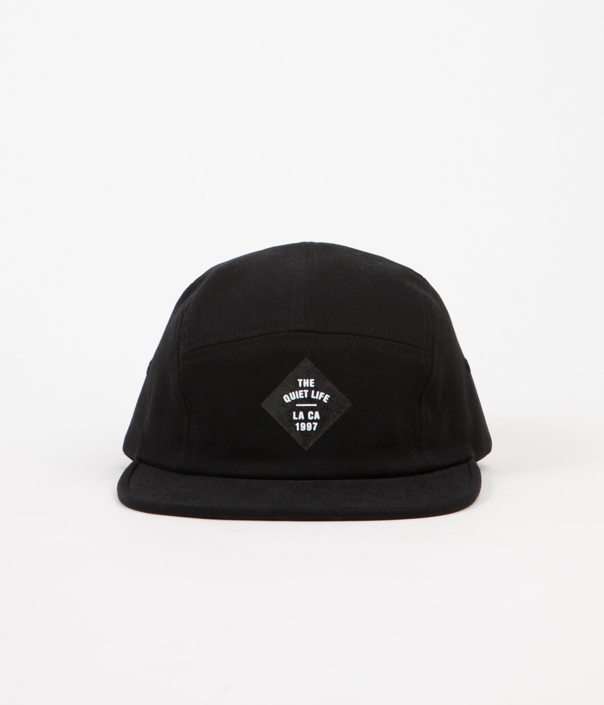 The Quiet Life Traveller 5 Panel Cap - Black