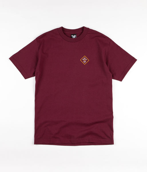The Quiet Life Traveller T-Shirt - Burgundy