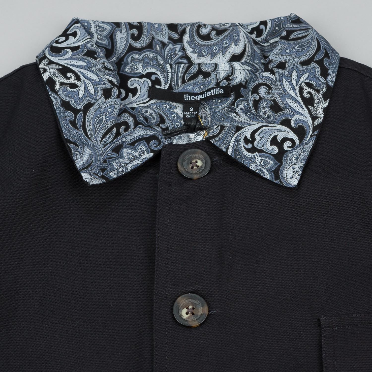 The Quiet Life Trotter Paisley Jacket - Navy
