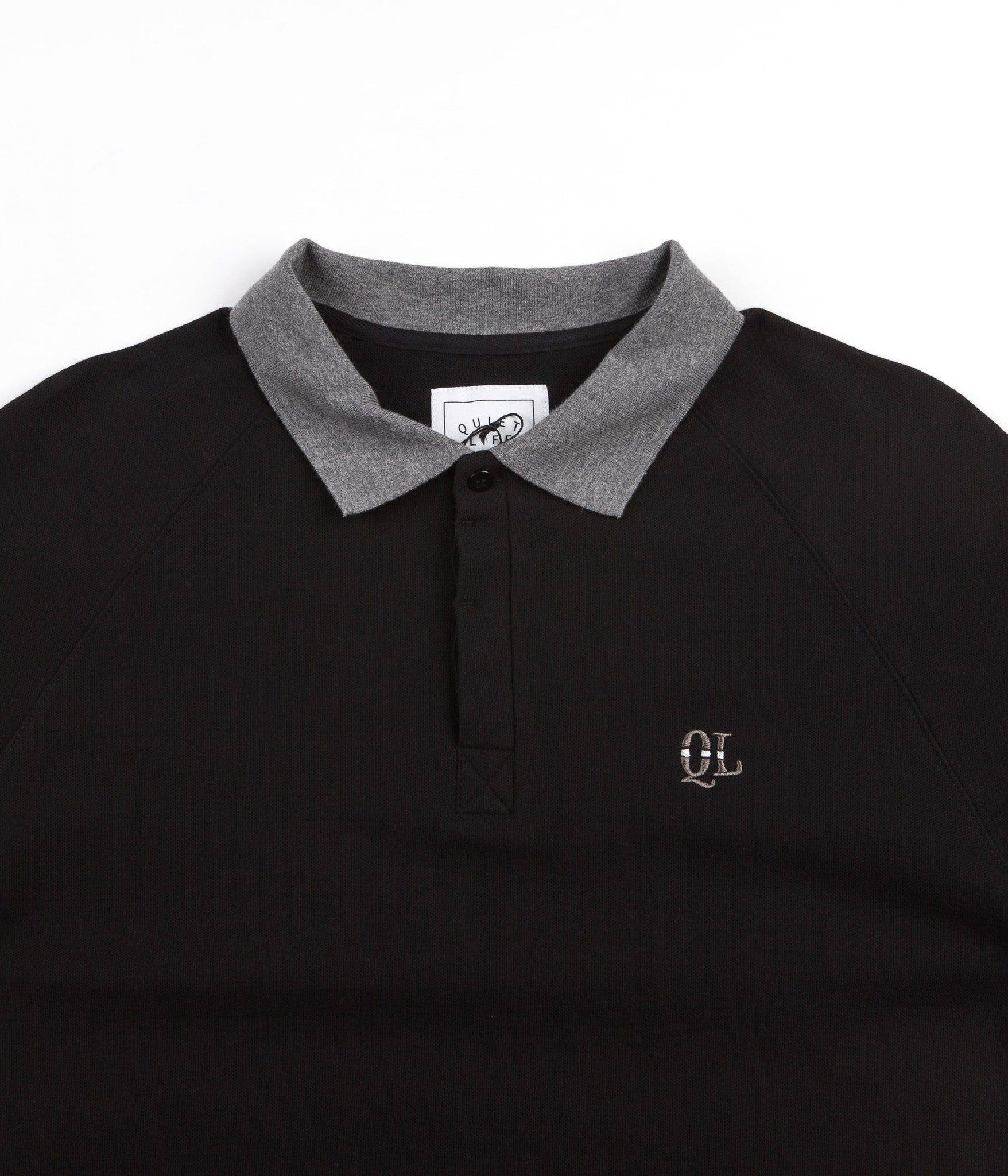 The Quiet Life Unchained Long Sleeve Rugby Shirt - Black