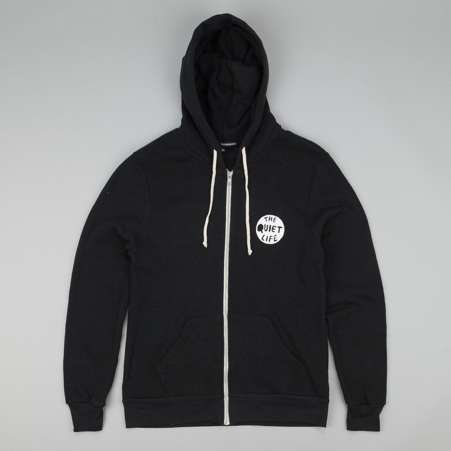 The Quiet Life Volcano Zip Up Hooded Sweatshirt - Black