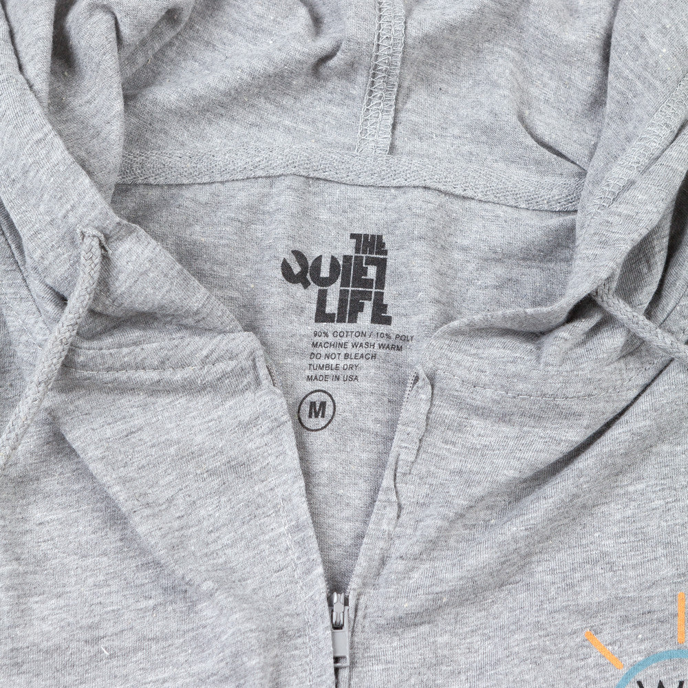 The Quiet Life X Watershed Palm Tree Zip Hood T Shirt