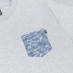 The Quiet Life Wave Pocket T-Shirt - Heather Grey
