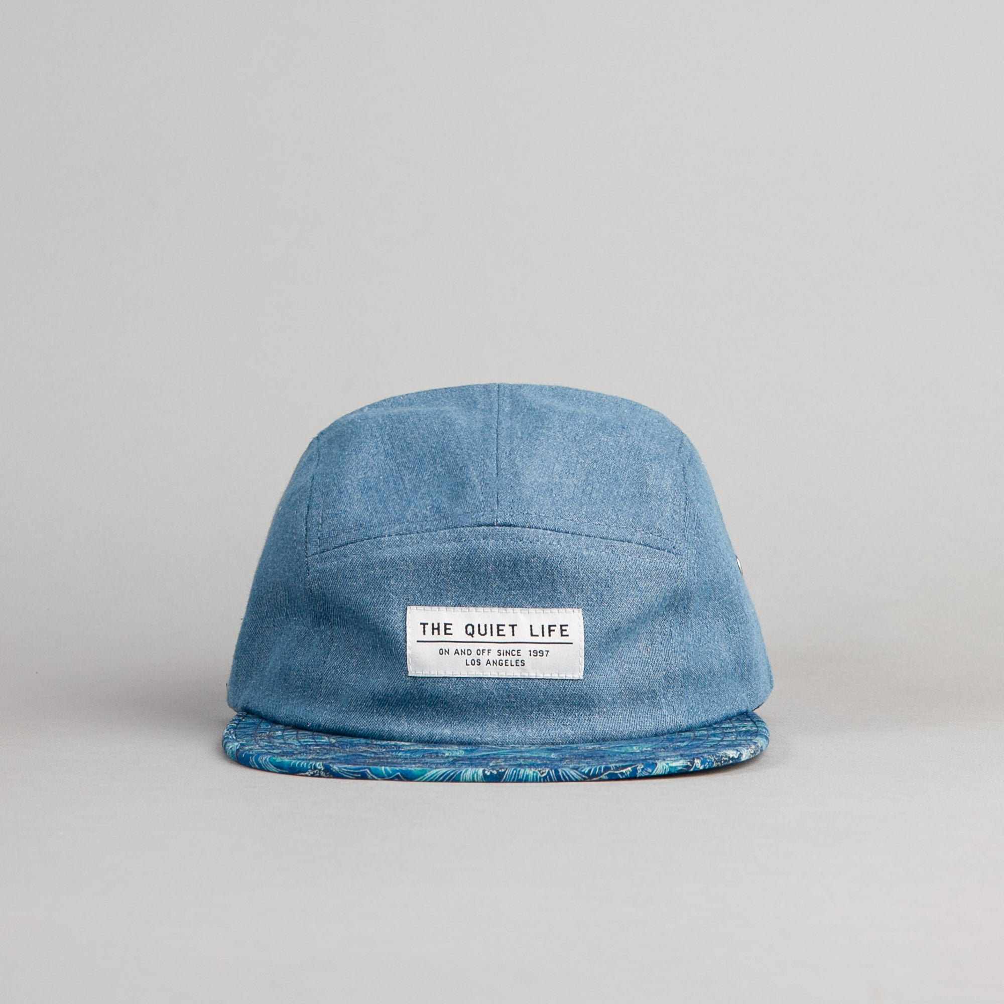 The Quiet Life Waves 5 Panel Cap - Light Blue Denim