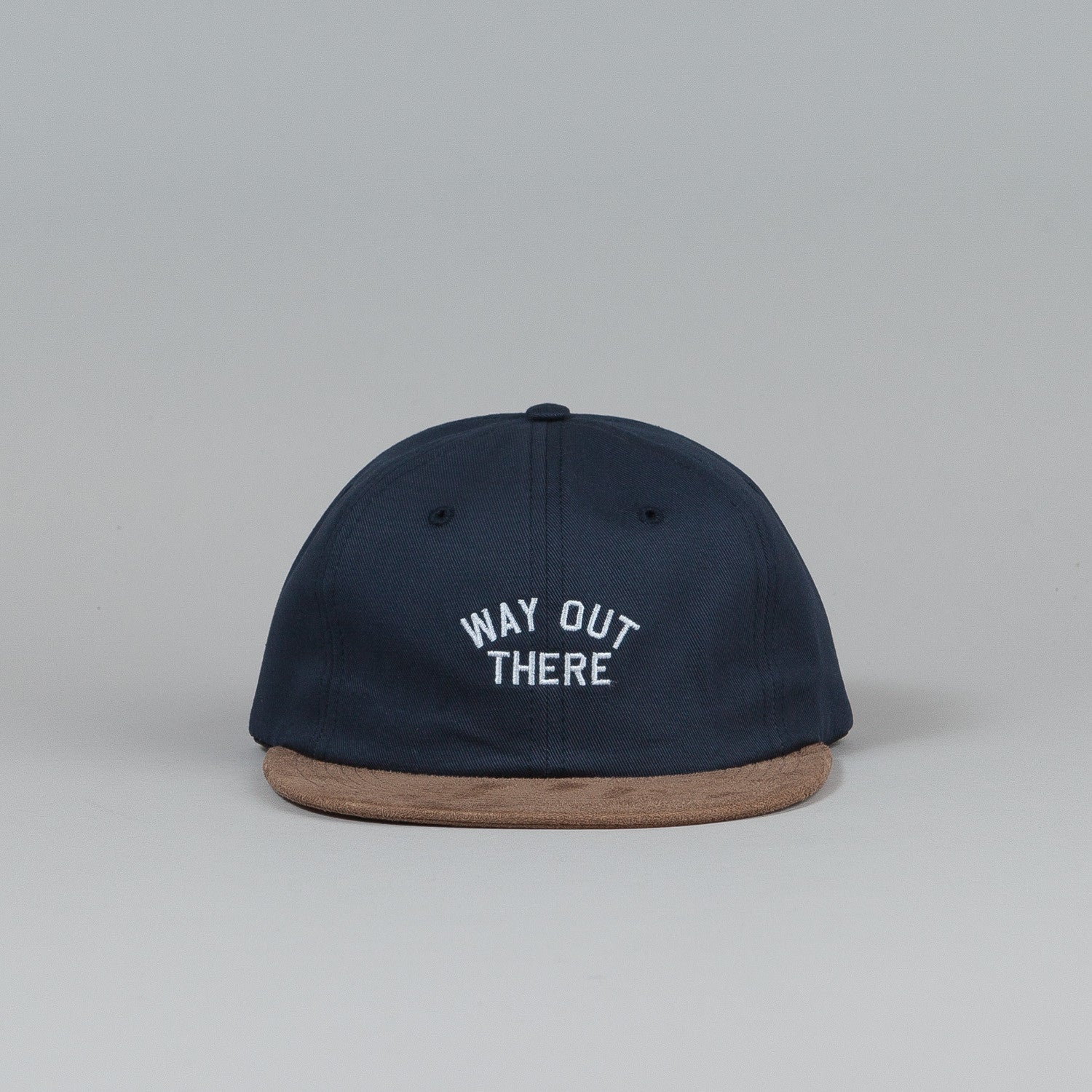 The Quiet Life Way Out There Polo Cap Navy / Camel