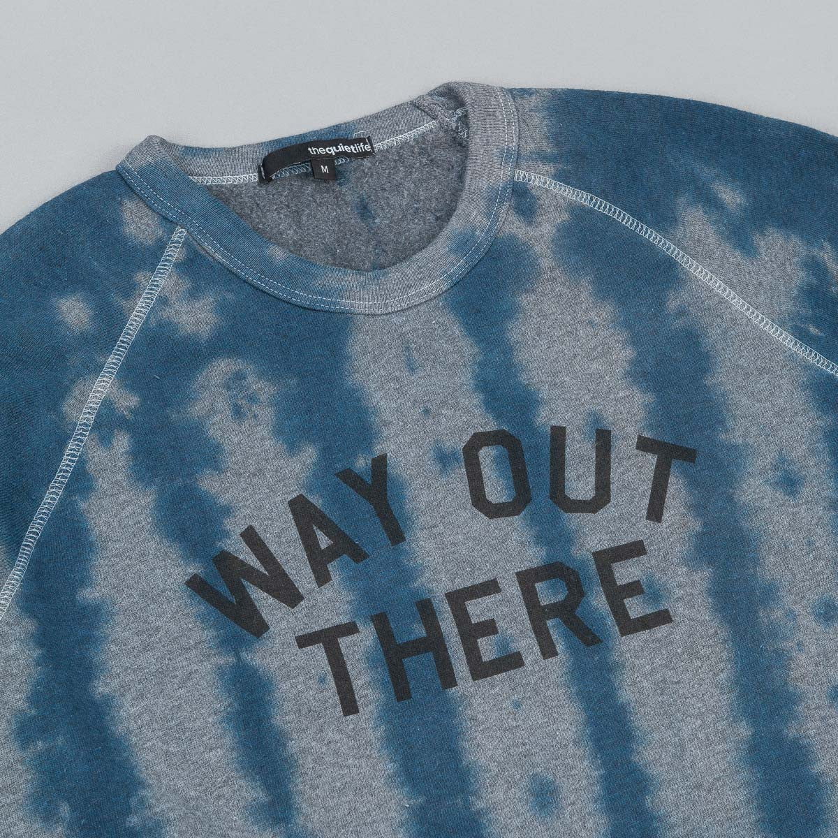 The Quiet Life Way Out There Sweatshirt - Tie Dye Heather Grey